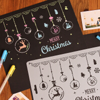 圣诞主题花边尺diy相册创意礼品工具材料粘贴式影集配件一大张