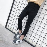 女童牛仔裤2018春季新款童装韩版宝宝破洞长裤儿童小脚打底裤子潮