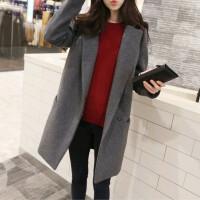 韩观毛呢大衣女 中长款韩国冬反季外套韩版2017新款羊绒呢子大衣学生