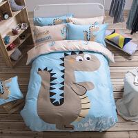 四件套卡通床单被套1.5儿童三件套床笠1.8m双人床上用品