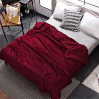 双层毛毯珊瑚绒盖毯子加厚法兰绒被子冬季保暖单人宿舍学生床单J