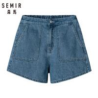 森马牛仔短裤女2019夏季新款高腰显瘦复古潮流热裤学生口袋