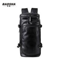 男士旅行包大容量手提包旅游休闲男包韩版商务出差双肩背包行李包 黑色