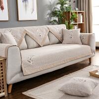 老粗布沙发垫四季通用布艺客厅韩式清新田园生活组合套装夏季亚麻