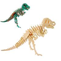 3d立体拼图木质儿童玩具 手工拼插diy幼儿园学生礼品木制模型拼装