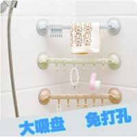 创意浴室吸盘免钉挂钩厨房强力无痕壁挂排钩防水粘钩墙壁门后挂钩