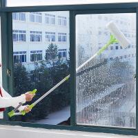 新品家用擦窗户清洁器多功能伸缩杆可拆双面擦玻璃器长柄清洁工具刮水器瓷砖墙壁清洁拖把擦窗器 图片色