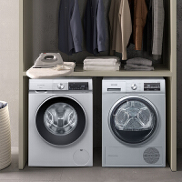 西门子10KG洗衣机WG54A1A80W+干衣机 WT47W5601W
