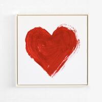 浪漫爱心 现代简约卧室床头装饰画新房婚房唇印个性艺术墙画温馨