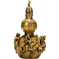 铜葫芦摆件 八仙葫芦大号家居办公室装饰品工艺礼品0278 八仙葫芦(黄铜)