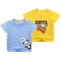 男童短袖t恤夏装婴儿童纯棉上衣小童宝宝卡通半袖衣服