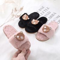 儿童棉拖鞋女童可爱卡通保暖室内毛毛拖中大童男宝宝棉鞋