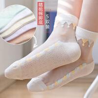 女童袜子薄款儿童袜夏季透气公主袜