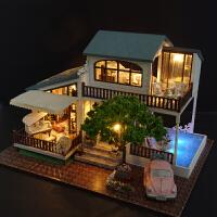 智趣屋房子玩具diy手工制作小屋大型别墅模型拼装男生女生创意