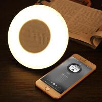 手机无线蓝牙音箱 创意智能触控七彩灯光小夜灯迷你音响 白 喇叭网白色 官方标配