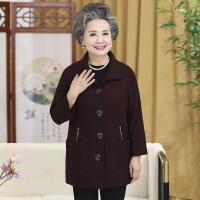 中老年女装奶奶装毛呢外套秋冬新款外套翻领上衣