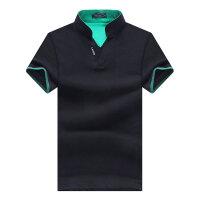 新款t恤大码男士夏季v领潮流韩版polo衫半袖体恤男装夏装夏季衣服