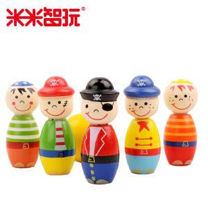 【领券立减50元】米米智玩 儿童运动玩具保龄球玩具儿童保龄球卡通人物卡通形象玩具球类益智 实木制造活动专属