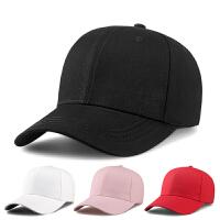 帽子男女韩版棒球帽潮休闲百搭鸭舌帽嘻哈黑色夏季遮阳太阳帽 均码