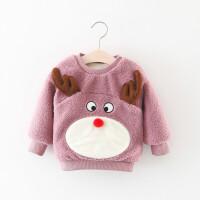 童装女童卫衣秋冬季儿童上衣婴儿宝宝冬装套头绒衫女