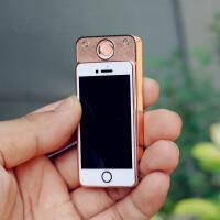 {夏季贱卖}迷你手机点烟器USB充电打火机薄金属机身创意 个性男女生日礼物 手机款