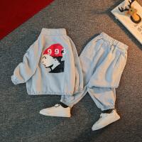 男童秋装套装洋气春秋季潮宝宝牛仔两件套