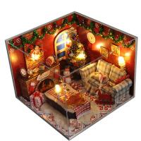 diy小屋北欧时光 手工房子模型拼装女孩儿童玩具平安夜圣诞节礼物