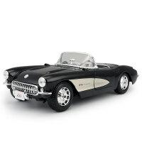 汽车模型1957雪佛兰克尔维特 1:18仿真合金汽车模型 老爷车
