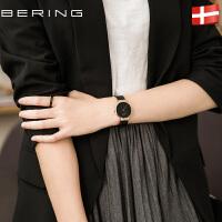 Bering白令手表女正品防水石英表简约时尚潮流休闲男表钢带DW166