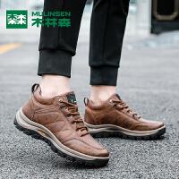 木林森新品时尚潮流舒适耐磨运动鞋男休闲鞋男鞋