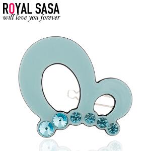 皇家莎莎Royalsasa饰品 人造水晶边夹 韩国时尚小发夹 刘海发卡 HS1404SP079