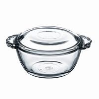 创意小号玻璃双皮奶圆形燕窝小碗用儿童简约甜品碗带盖