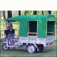 电动三轮车车棚雨棚全封闭车篷双雨帘方管折叠遮阳棚加厚车蓬雨棚