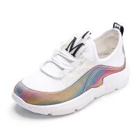女童运动鞋春季透气网面鞋子儿童春秋白色网鞋