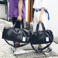 旅行包男士手提包大容量旅游行李包短途商�粘霾�渭缧笨姘�健身包