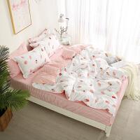 床上四件套床单被套学生宿舍三件套单人双人床上用品1.2米/1.5m/1.8米床