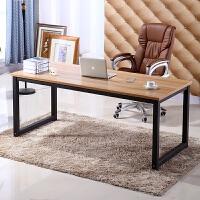 简易电脑桌钢木书桌简约现代双人桌办公桌子台式桌家用写字台