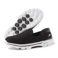 SKECHERS斯凯奇男鞋健步鞋Go Walk3一脚蹬网面透气运动鞋53980