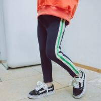 春季儿童幼儿园裤子三岁男女童休闲裤运动百搭宝宝侧条卫裤潮长裤