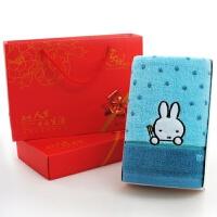毛巾礼盒单条装 婚庆寿宴满月回礼 公司小礼品绣字印字定制 74x34cm