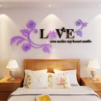 贴画亚克力墙贴花3D立体床头客厅卧室电视背景墙装饰自粘创意贴纸