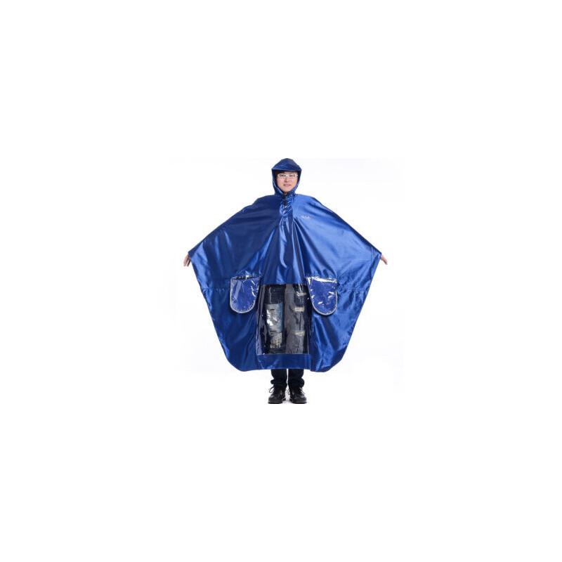 天堂 J231 双人加大加长摩托车牛津布夜光条雨衣雨披 均码