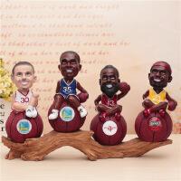 创意球星NBA篮球明星詹姆斯存钱罐摆件 学生礼品树脂礼品送男生