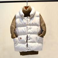 短款马甲女秋冬季2017新款韩版宽松坎肩背心加厚马夹面包外套