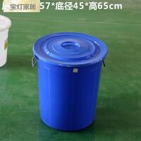 大号加厚户外圆形塑料垃圾桶收纳水桶40L60L100L160L 1