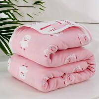 六层纱布毛巾被儿童被棉毛毯被子夏空调毯棉夏凉被 200x230cm 纯棉六层纱【送方巾】