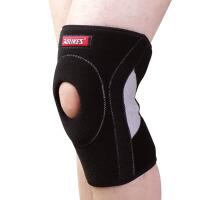 20180410031328451运动护膝 硅胶弹簧支撑护膝 透气篮球跑步户外骑行羽毛球运动护具 调节型适合35-55