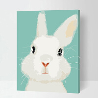 数字油画儿童卡通动漫填色自己手工绘画装饰画小动物
