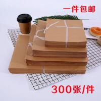 手抓海鲜炒海鲜牛皮纸烤鸭白淋膜覆膜食品包装餐盘纸吸油纸垫盘纸礼物SN1664