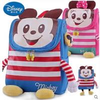 迪士尼幼儿园书包男童女童米奇卡通可爱中小班儿童宝宝背包双肩包 可爱米奇米妮造型 幼儿书包